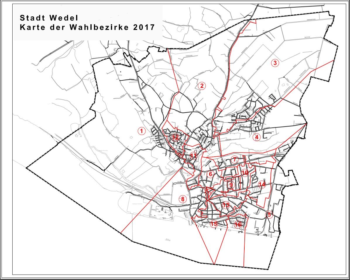 Übersicht aller Bezirkskandidaten zur Kommunalwahl in Wedel